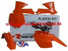 New Plastic Kit KTM SX 85 02-12 Orange/White Plastics Motocross Racetech